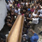 A large crowd followed Eduardo Victor's coffin to his funeral service