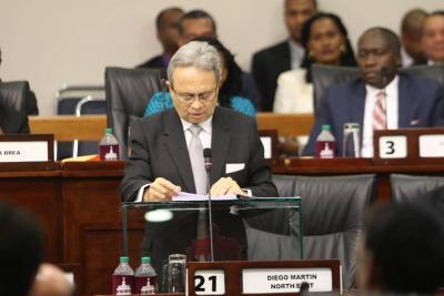 Finance Minister, Colm Imbert