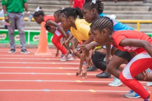 Photo 7 - The girls are off at last year's competition