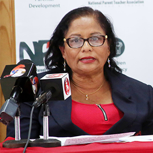 Chairman of the National Parent Teachers Association, Raffina Ali Boodoosingh