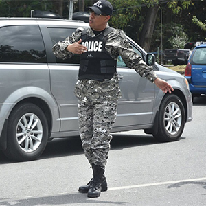 Commissioner Gary Griffith on duty wearing camouflage