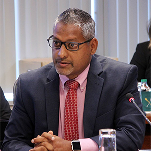 Agriculture Minister Clarence Rambharat