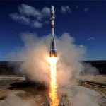 a-russian-soyuz-2-1a-rocket-carrying-lomonosov--aist-2d-and-samsat-218-satellites-lifts-off-from-th